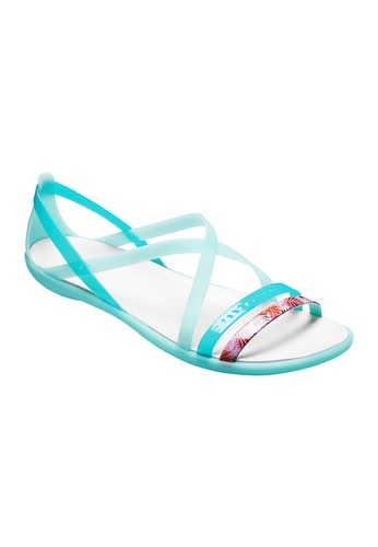 7d482f71f0f0 CROCS green CROCS Women s Isabella Cut-Out Graphic Strappy Sandals  CR024SH110AFTH 1