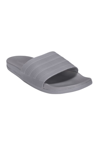 f0fd4c52b711 ADIDAS grey and white ADIDAS Adilette Cloudfoam Plus Mono Slides Men s  Sandals AD001SH950ADTH 1