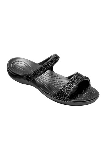 0bd46225354 CROCS black CROCS Cleo V Diamante Women s Sandals CR024SH071AMTH 1