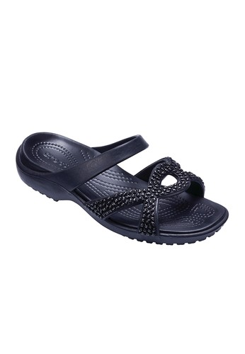 6e46c1664262 CROCS black CROCS Meleen Twist Diamante Women s Sandals CR024SH072AMTH 1