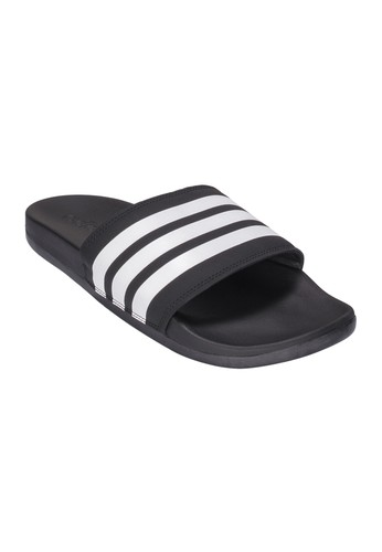 quality design 44e1c 6b5d9 ADIDAS black ADIDAS Adilette Cloudfoam Plus Stripes Slides Mens Sandals  AD001SH944ADTH1