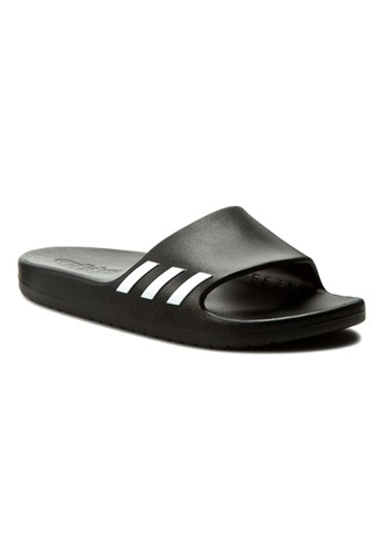 separation shoes 21aac 0c07f ADIDAS black ADIDAS Womens Sandal Aqualette Slides BA8762 Black  AD001SH03GHUTH1