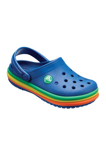 e87614b0c7d106 CROCS blue CROCS Crocband Rainbow Band Clog Kids Casual Shoes  CR024SH746AITH 1