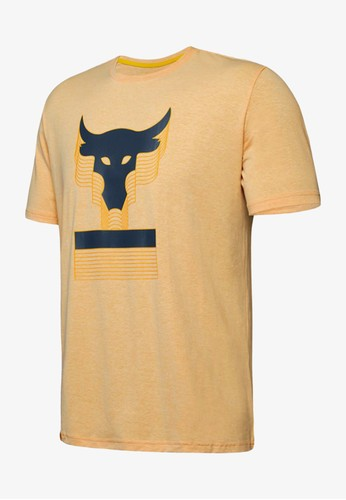 a33d8469 UNDER ARMOUR yellow Project Rock Above The Bar Men's Training T-Shirt  UN127AP00ZOSTH_1. CLICK TO ZOOM