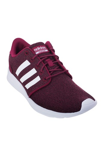 ADIDAS NEO red Adidas Neo Women's Casual Shoes Cloud Foam QT Racer BC0006  Burgundy AD002SH023ACTH_1